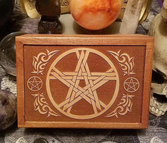 Laser Engraved Tarot/Trinket Box