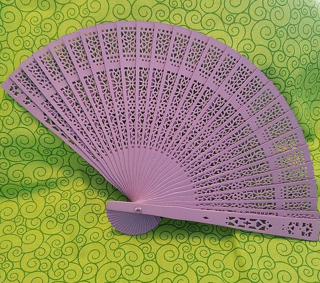 Lavender Bamboo Spring Fan