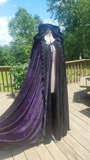CUSTOM Purple Galaxy Goddess Cloak