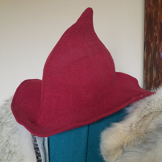 Red Wool Witch Hat