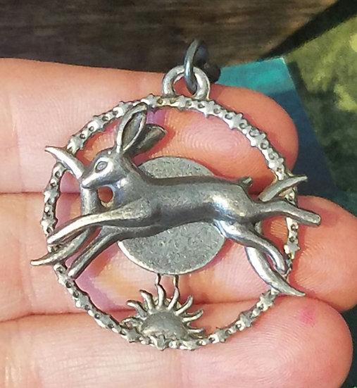 Triple Goddess Lucky Hare Pendent
