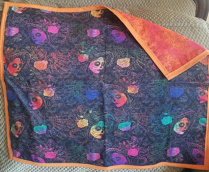 Rainbow Sugar Skull Altar Tarot Cloth