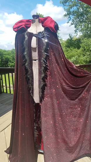 Galaxy Star Goddess Cloak-Red