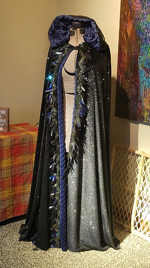 Galaxy Black and Silver Cloak
