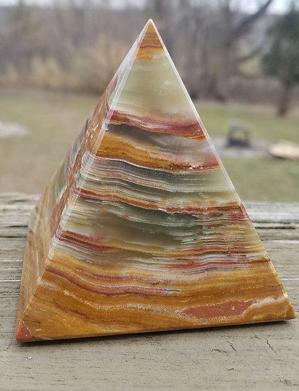 Banded Onyx Pyramid -Large