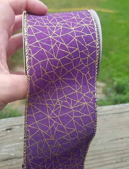 Purple Web Bow Broom Adornment