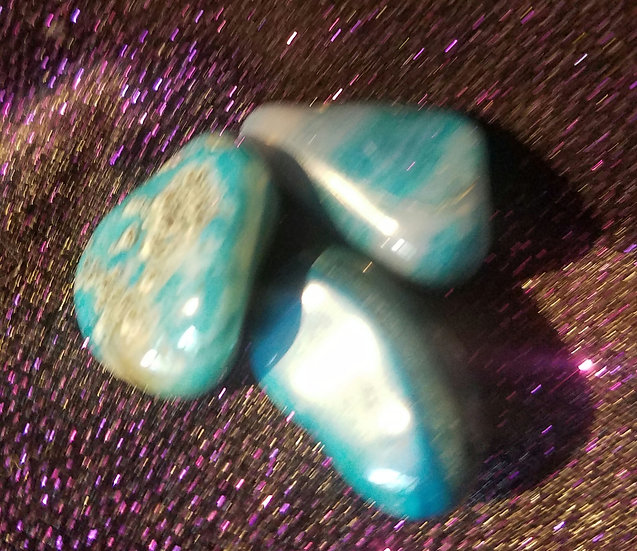 Blue Agate-Dyed Tumbles-Medium