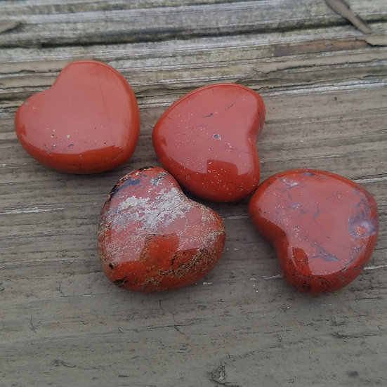 Red Jasper Heart -small