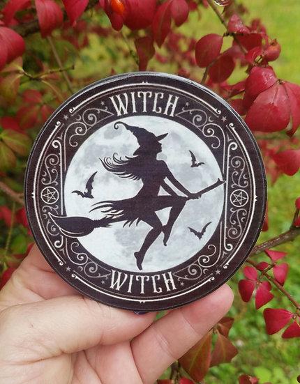 Witch Ceramic Coaster/Tile