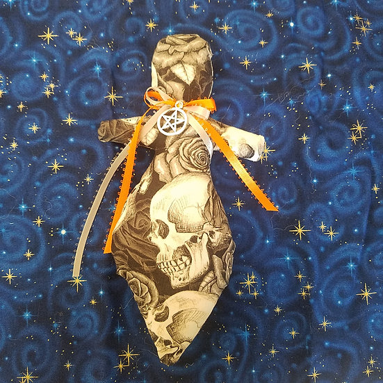 Gothic Skull Goddess Poppet