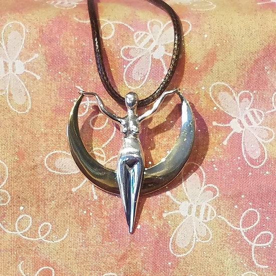 Sterling Silver & Bronze Goddess Necklace