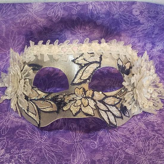 Silver Sky Venetian Mask