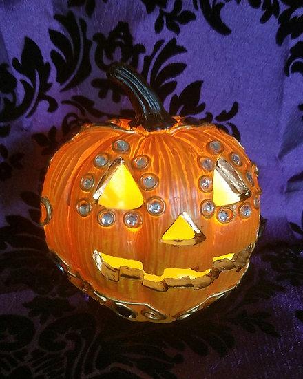Jeweled Jack-o-Lantern Light