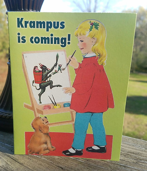 Krampus is Coming Holiday Card