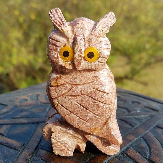 "Red Dolomite Owl 3"""