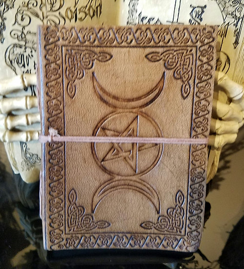 Embossed Triple Goddess Journal