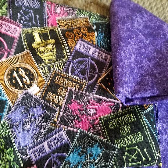 Neon Tarot Cards Altar Cloth