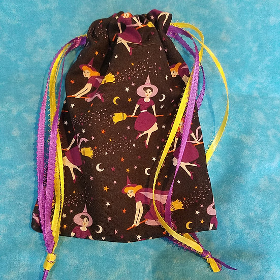 Glam Witch Tarot/Dice Bag-Unlined