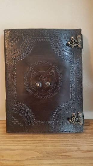 Massive 10x13 Black Cat Book of Shadows Journal