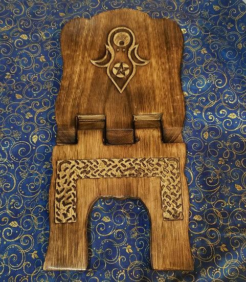 Goddess Wood Book Stand
