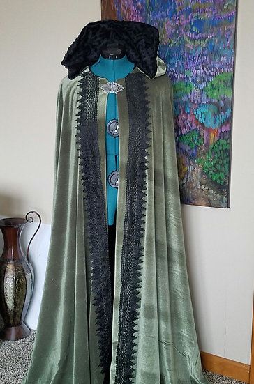 Sage Green Witch's Cloak