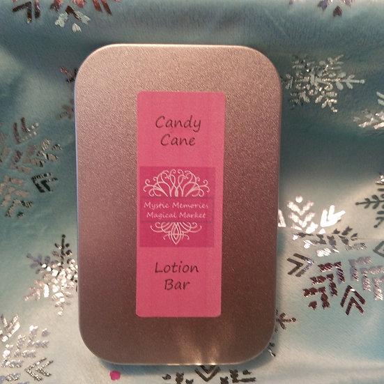 Candy Cane Mini Lotion Bar Tin