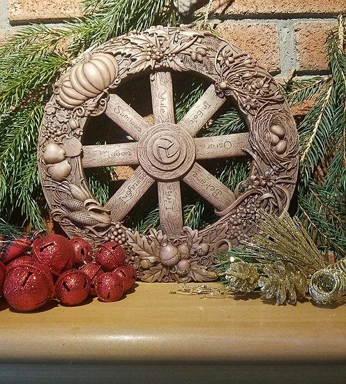 Sabbat Wheel of the Year Plaque