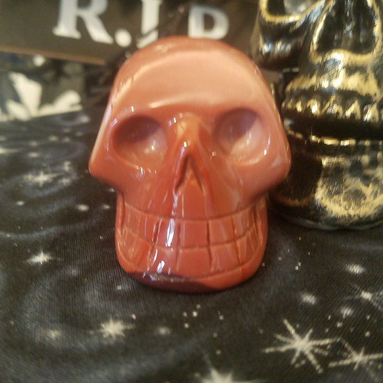 Red Mookaite Mineral Skull