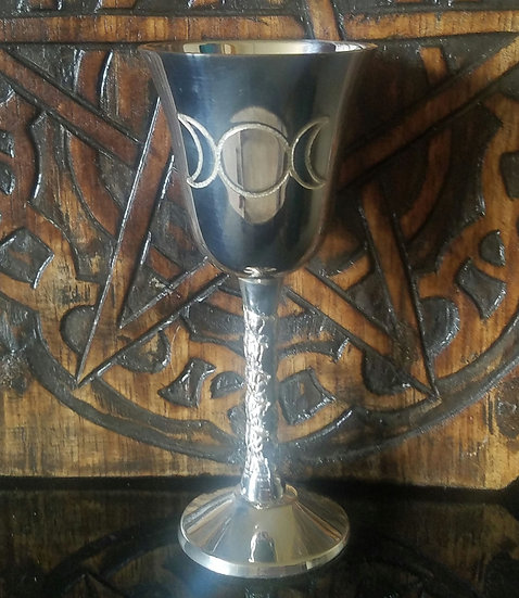 Triple Goddess Silver Plated Chalice