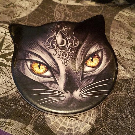 Black Cat Coaster/Altar Tile -Single