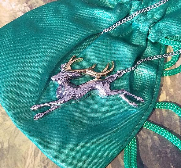 Spring Jackalope Necklace