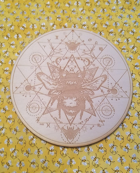 Bee Crystal Grid 8""