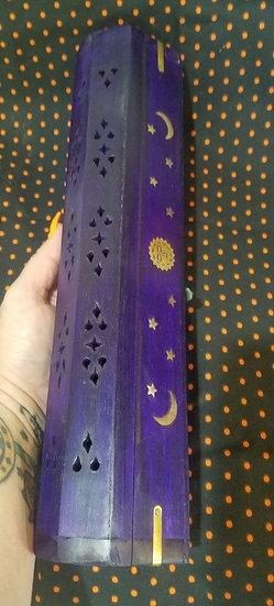 Coffin Incense Burner-Purple