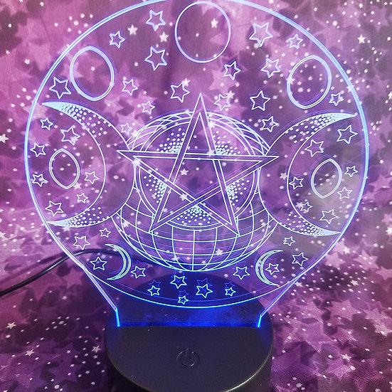 LED Triple Goddess Lamp