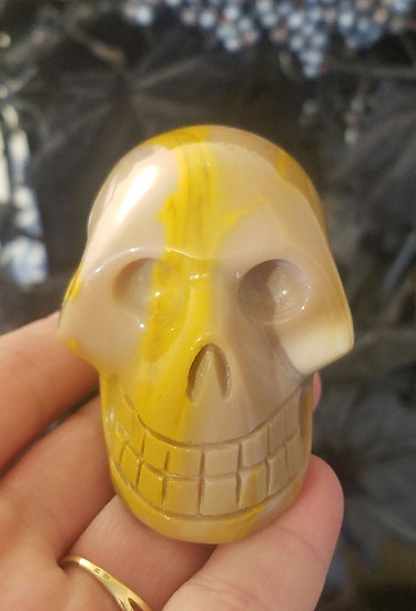 Mookaite Mineral Skull-Small/Medium