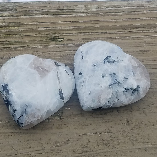 Medium Rainbow Moonstone Heart