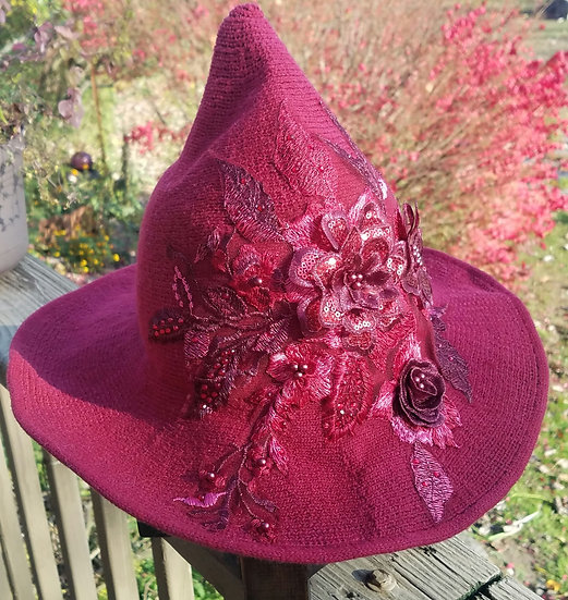 Ruby Red Witch Hat