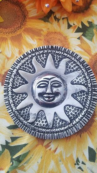Metal Sun Incense Burner