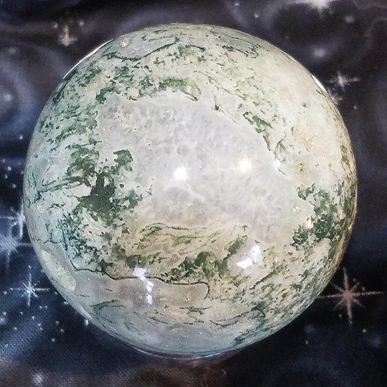 Tree Agate Sphere with Geodes -Medium