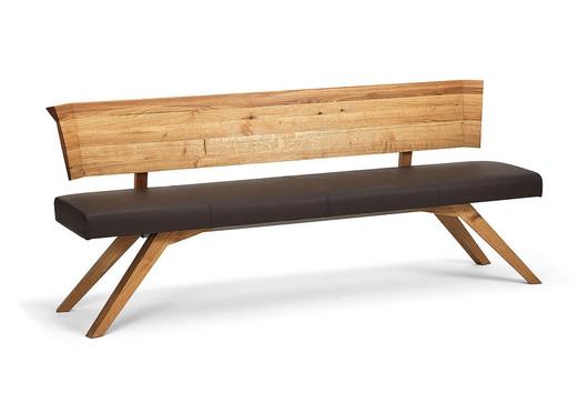 Sitzbank in Asteiche