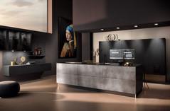 Moderne Küche mit einer Industriehstahl Optik
