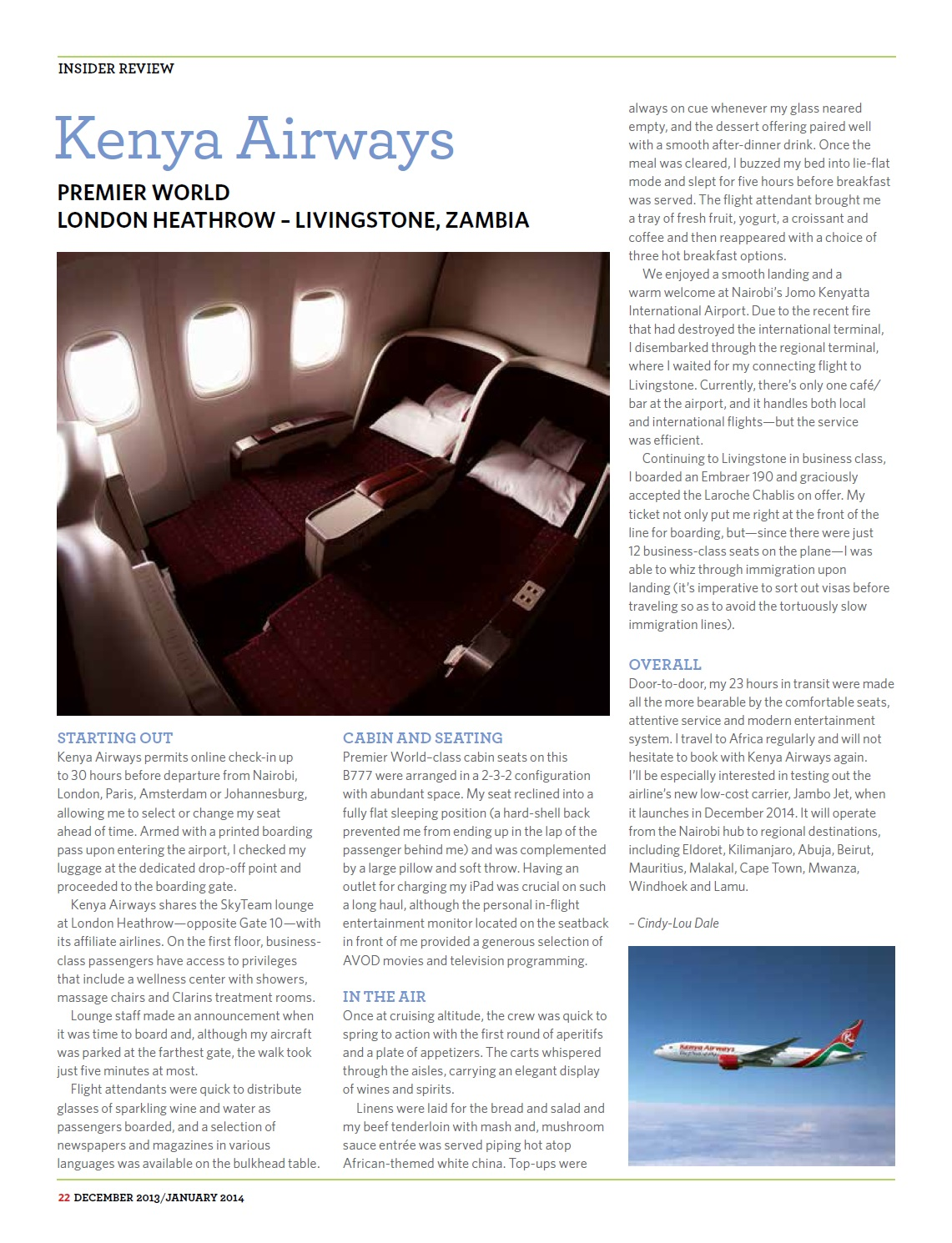 Premier Traveler, USA - Kenya Airways