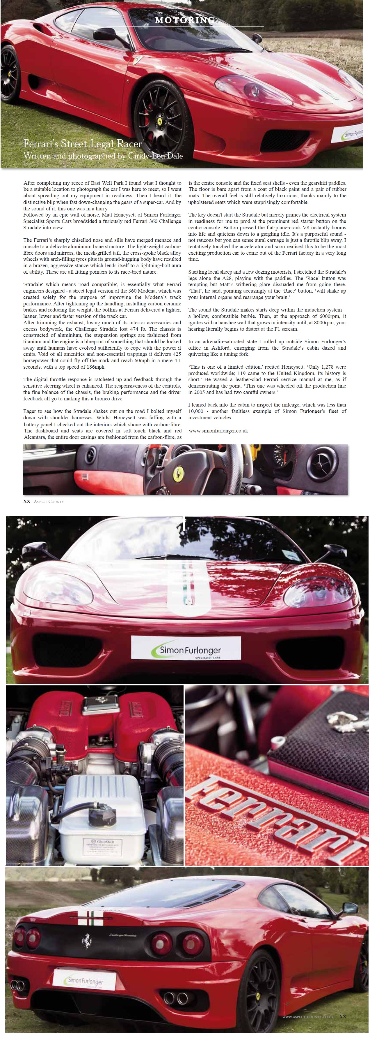 Aspect County, UK - Ferrari 360 Challenge Stradale