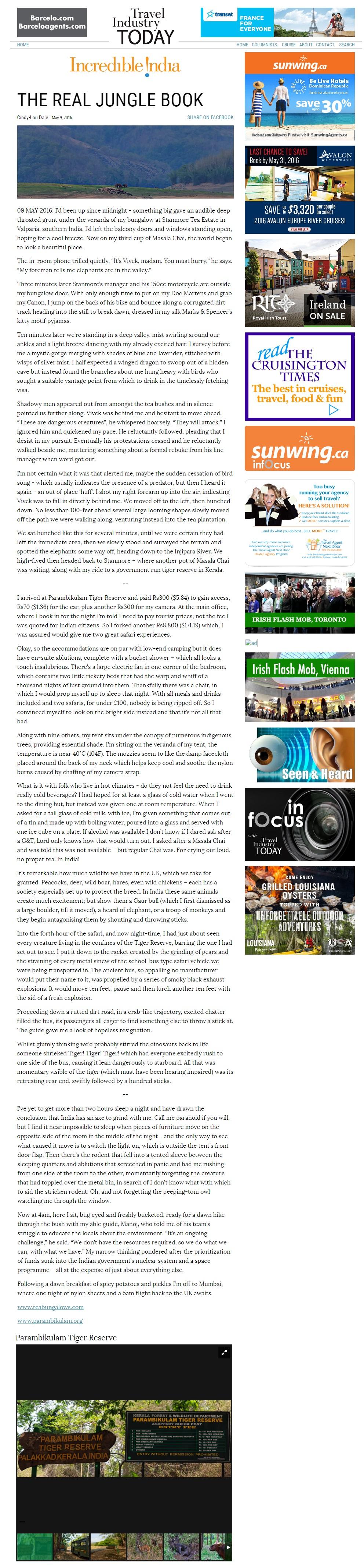 TravelIndustryTodayTheRealJungleBook