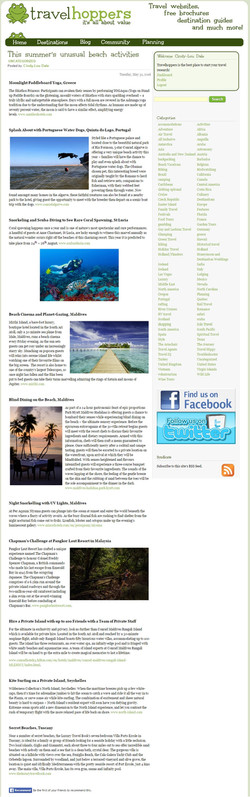 Travel Hoppers (USA) Unusual Beach A