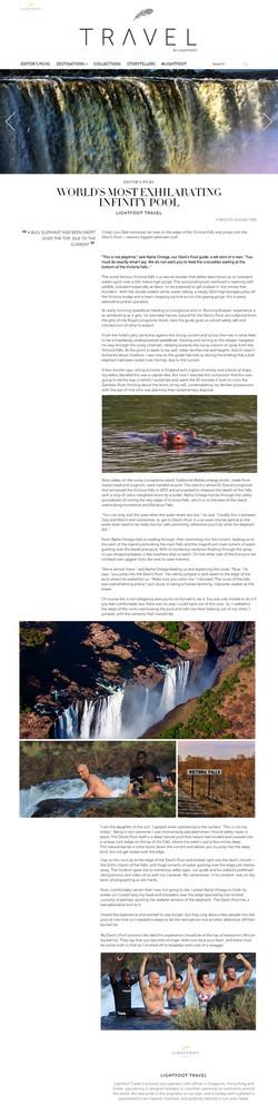 Lightfoot Travel, Malaysia - Devils Pool, Zambia