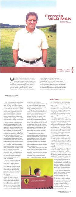 Winding Road, USA - Interview Jody Scheckter