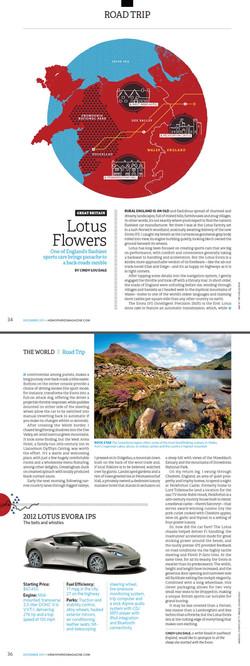Hemispheres Inflight, USA - Lotus Evora in Wales
