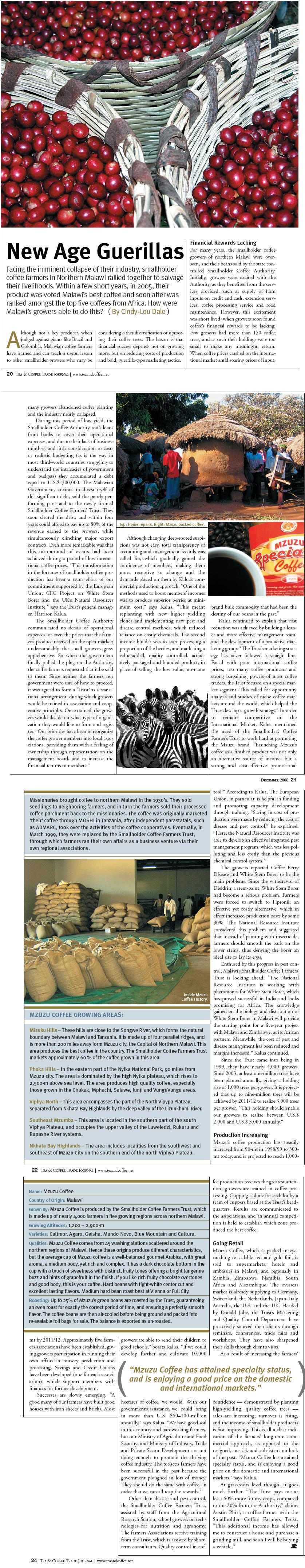 Tea and Coffee Trade Journal, USA - Malawi Coffee