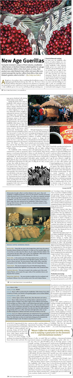 Tea and Coffee Trade Journal, USA - Malawi Coffee